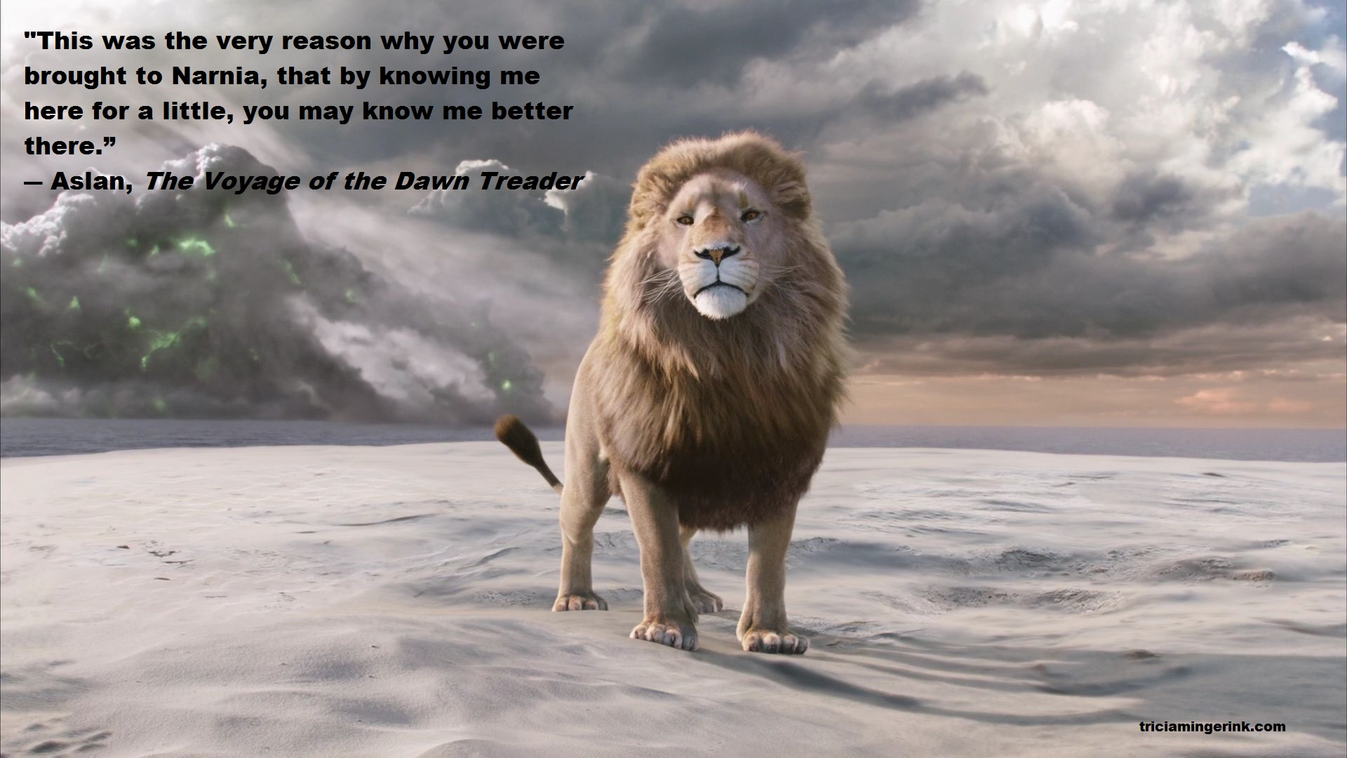 Why I Write Speculative Fiction – Tricia Mingerink for Narnia Aslan Quotes  70ref
