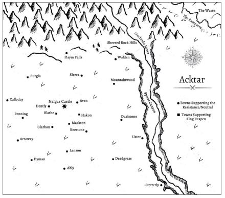 Map of Acktar Picture